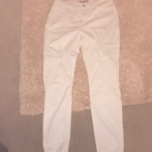 Guess white high waist skinny Tahitian fit